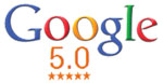 Google 5.0 star reviews!